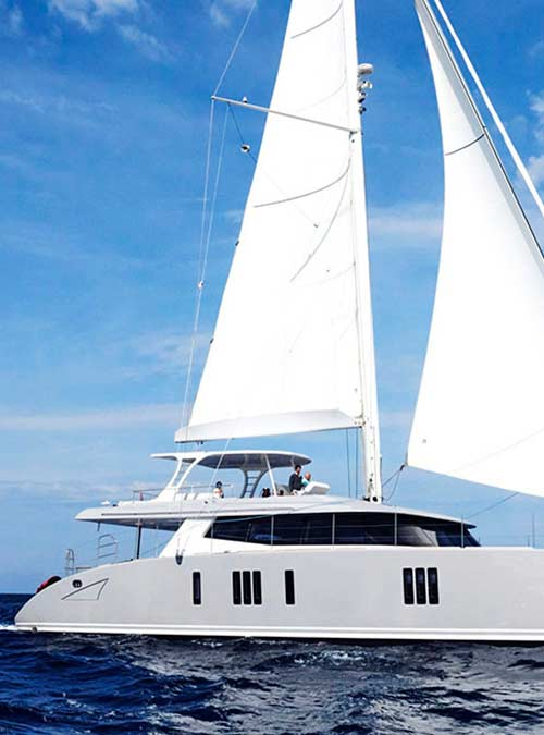 Catamaran 19th HOLE Sunreef 74 Yacht Charter Greece